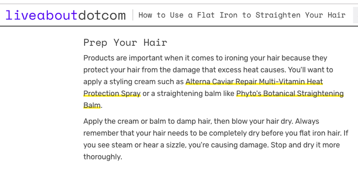 How To Use A Flat Iron To Straighten Your Hair