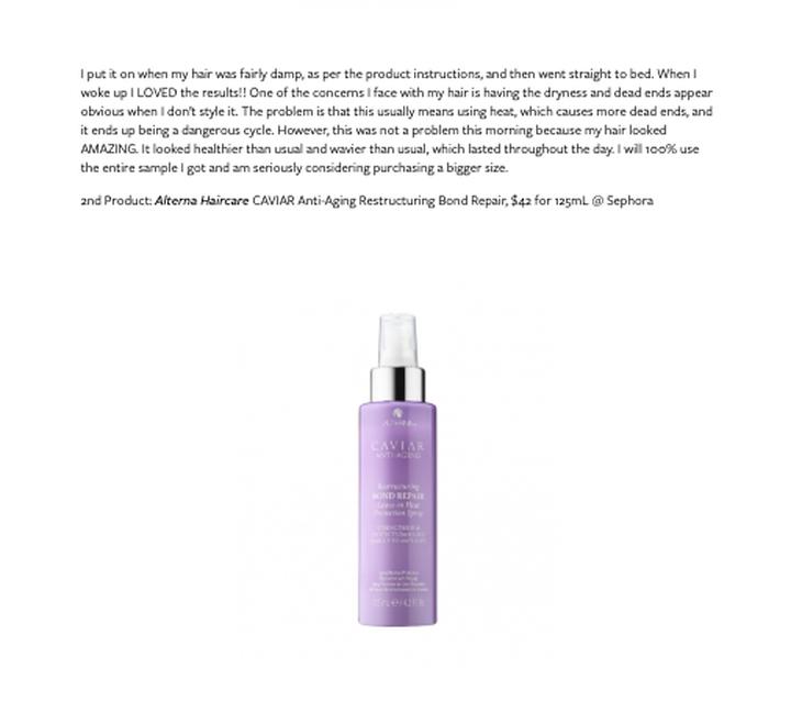 Sephora Beauty Insider Sample Bag Review Hair Care